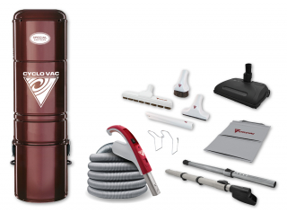 Central vacuum H225 with Electric attachment kit 35'