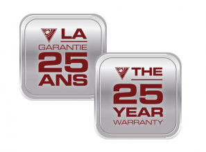 Warranty certificate 25 years - English and French language