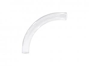 Transparent elbow pipe fitting for Retraflex retractable hose - 90° - very long-radius