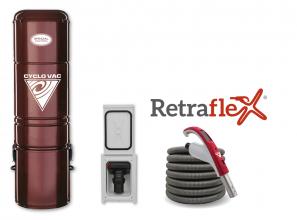 Aspirateur central Édition Spéciale H225 avec ensemble d'accessoires et d'installation Retraflex