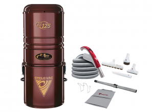 """Central vacuum 125 with bag including attachment kit 24V with Super Luxe brush 12"""" (30.5 cm)"""