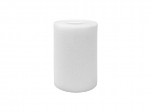 Cylindrical foam filter - 2/3 drilled