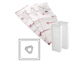 Heavy duty electrostatic filter bag - 3 notches - set of 3 with 2 carbon dust filter included - 5 gal (22 l)