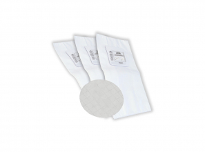 Heavy duty electrostatic filter bag (generic) - 3 notches - set of 3 with 1 large round filter included