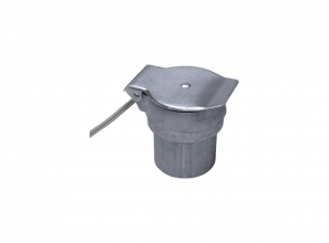 """Utility inlet with wire for switch - metal - 1 1/2"""" (3.81 cm)"""