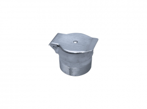 """Utility inlet with male end (threaded) and without wire for switch - metal - 1 1/4"""" (3.18 cm)"""