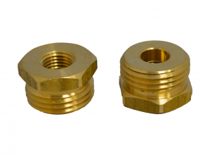1/4 union male GHT brass - wave -