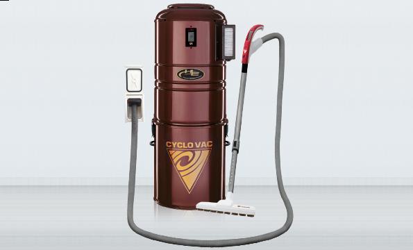 Cyclo Vac central vacuum with Retraflex retractable hose