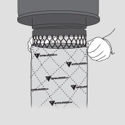 Step 3 of maintaining a central vacuum filter